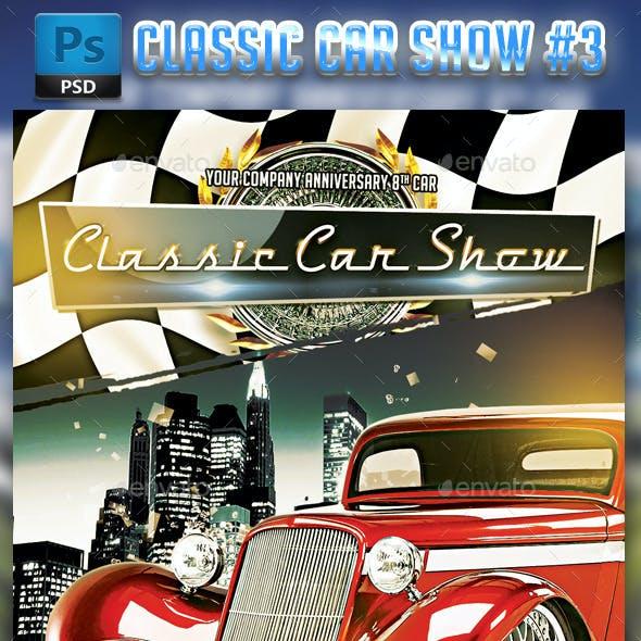 Classic Car Show flyer #3