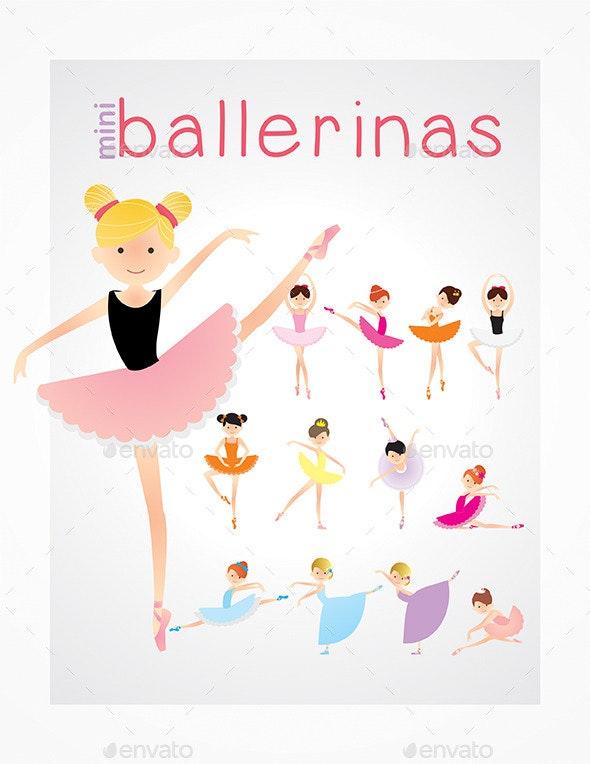 Ballerina Kids Pack - People Characters