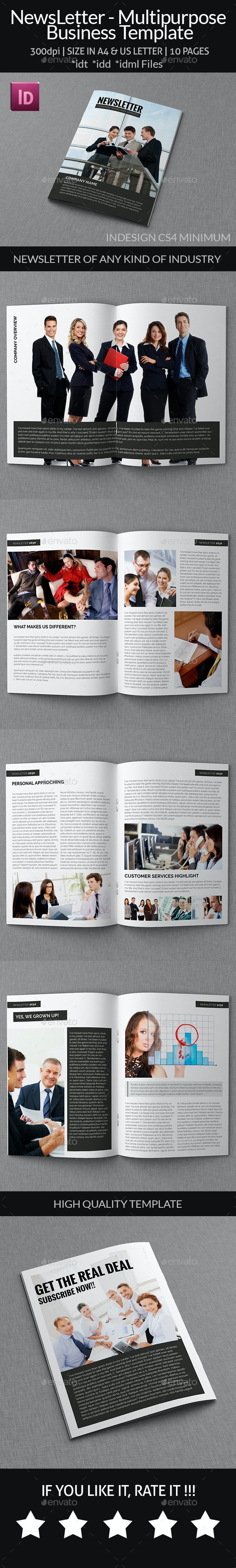 NewsLetter - Multipurpose Business Template - Newsletters Print Templates