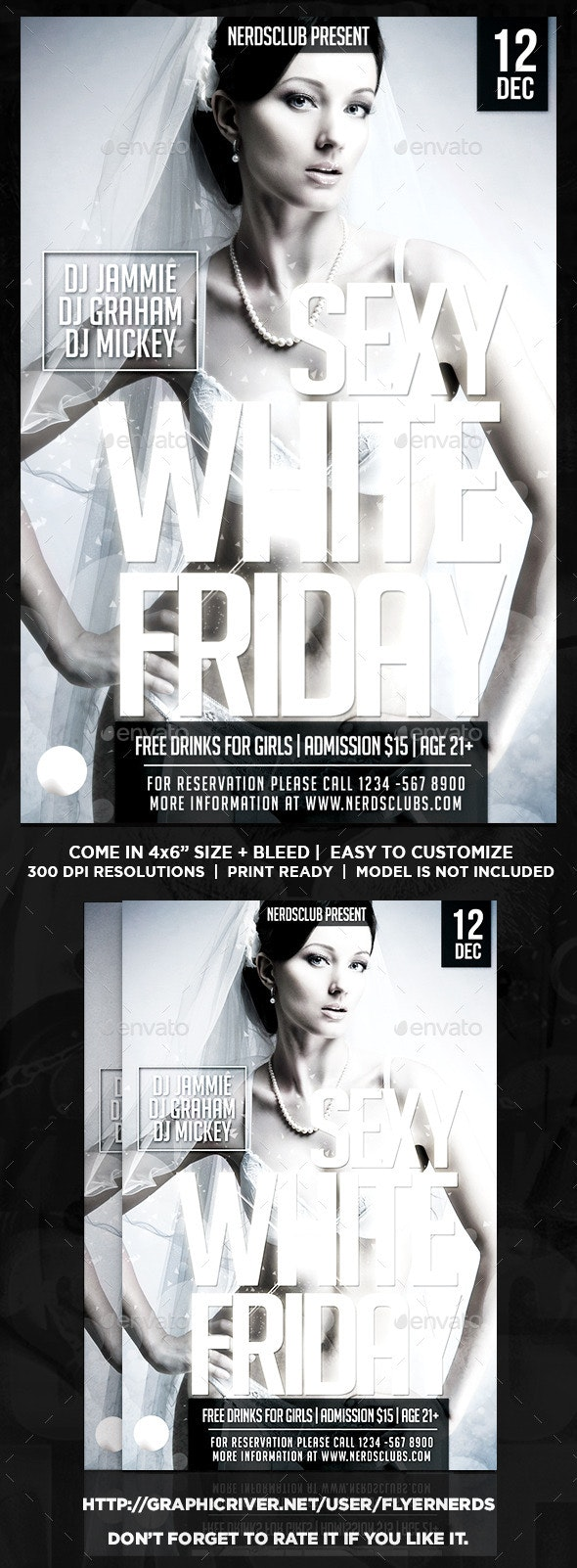 Sexy White Party Flyer - Clubs & Parties Events