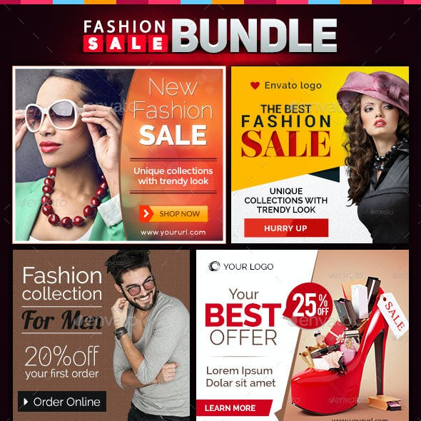 Fashion Banners Bundle - 4 Sets