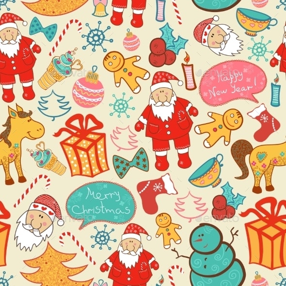 Christmas Seamless Pattern - Christmas Seasons/Holidays
