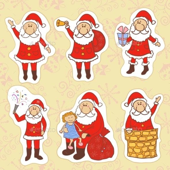 Doodle Santa Claus Set - Christmas Seasons/Holidays