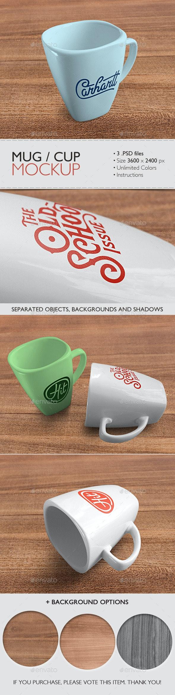 Mug/Cup Mockup - Product Mock-Ups Graphics
