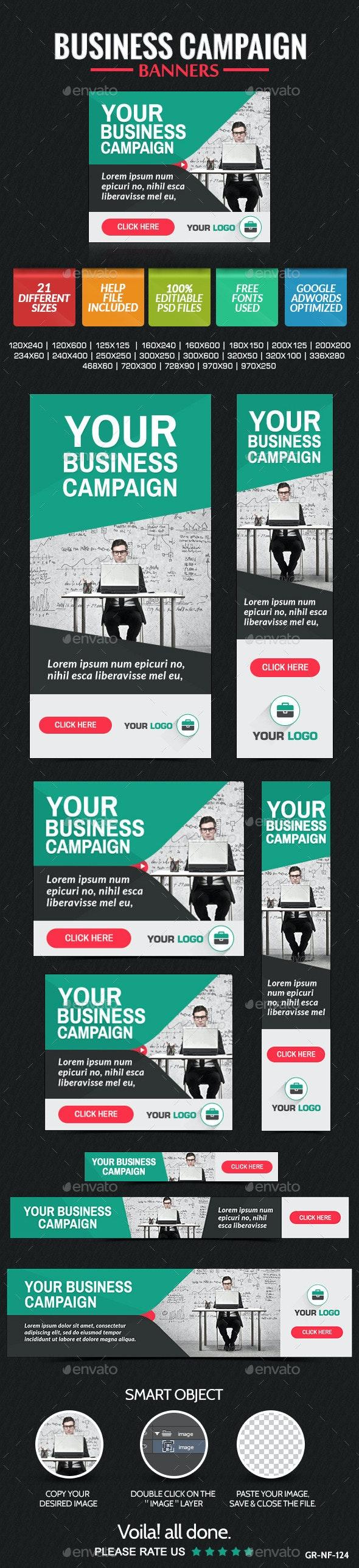 Business Banner Design Set - Banners & Ads Web Elements