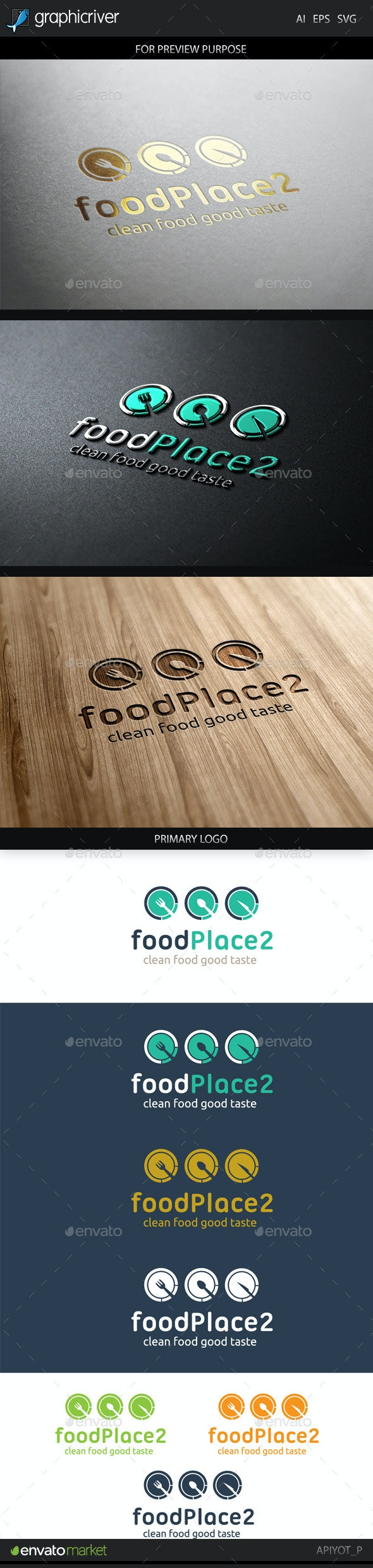 Food Place 2 Logo - Food Logo Templates