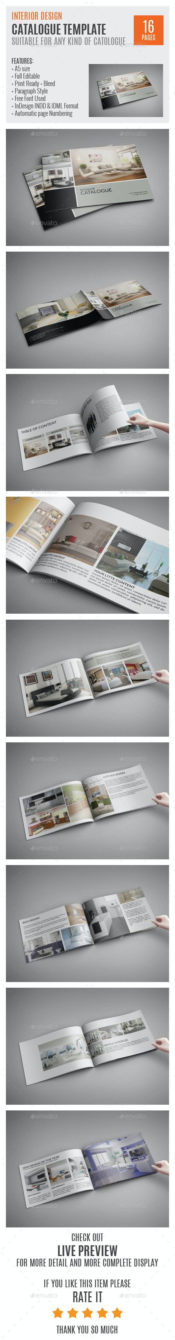 Interior A5 Indesign Catalog Template HP0010 - Catalogs Brochures