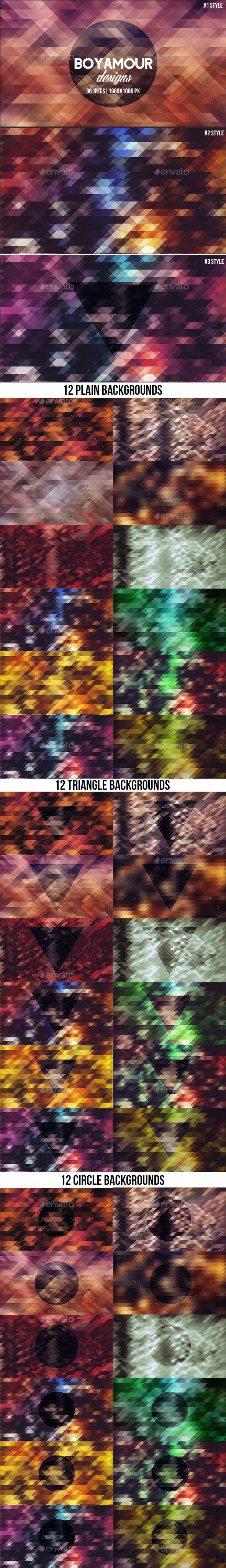 36 Abstract Triangle Backgrounds - Backgrounds Graphics