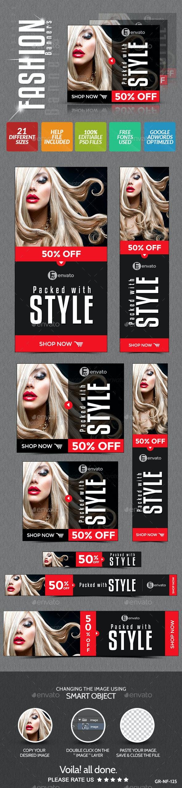 Fashion & Retail Banner Design - Banners & Ads Web Elements