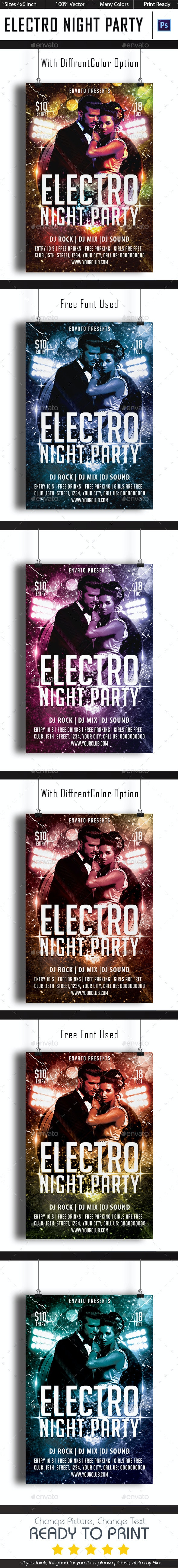 Electro Night Party - Clubs & Parties Events