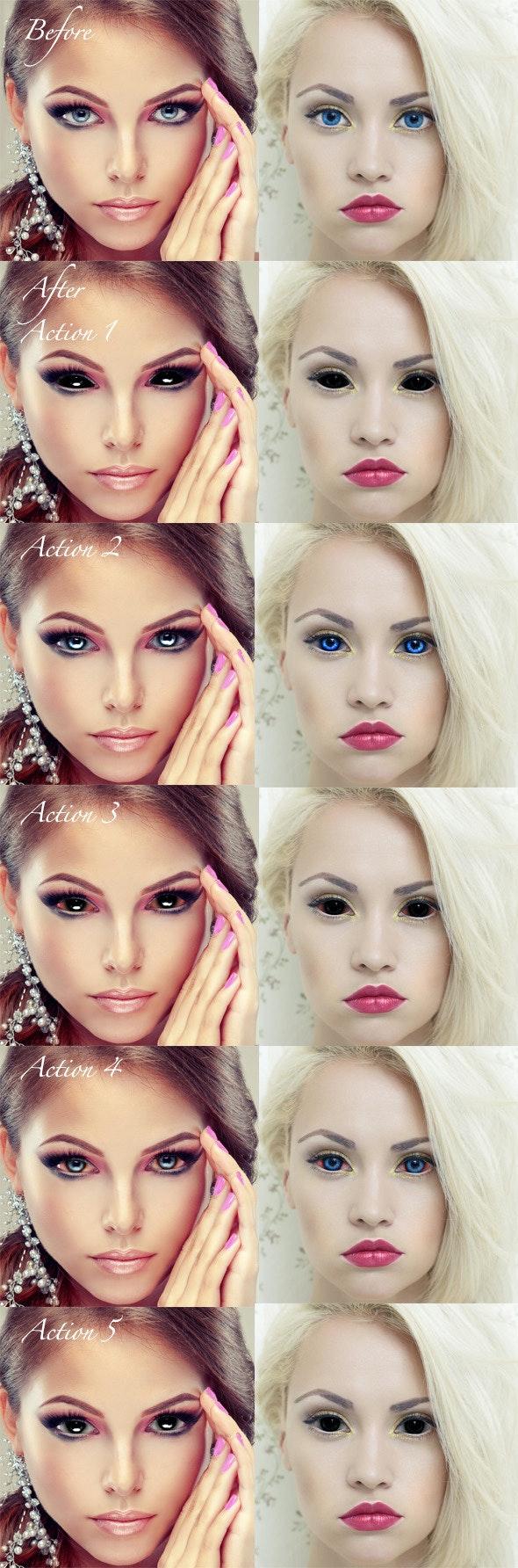 Creepy Eyes - Actions Photoshop