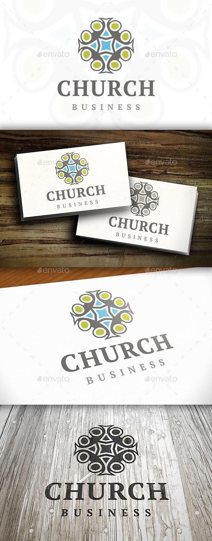 Church Crest Logo - Vector Abstract