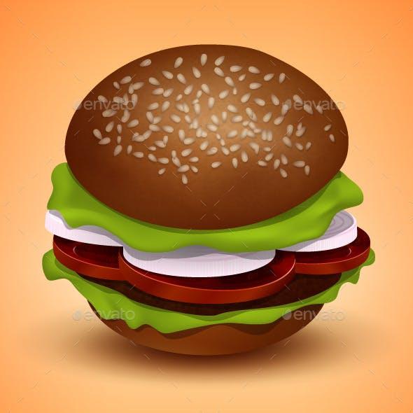 Vector Burger Illustration