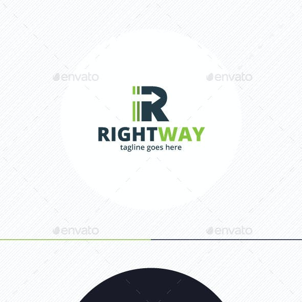 Right Way Logo — Letter R