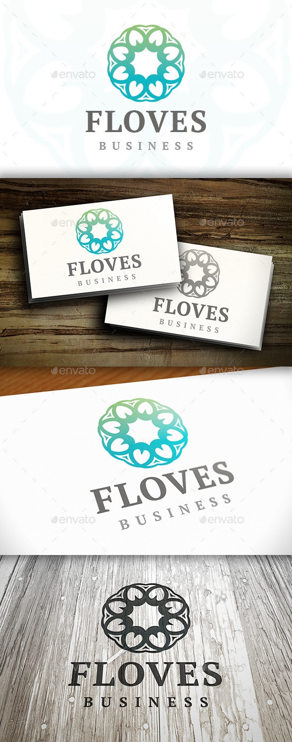 Elegant Flower Logo - Vector Abstract