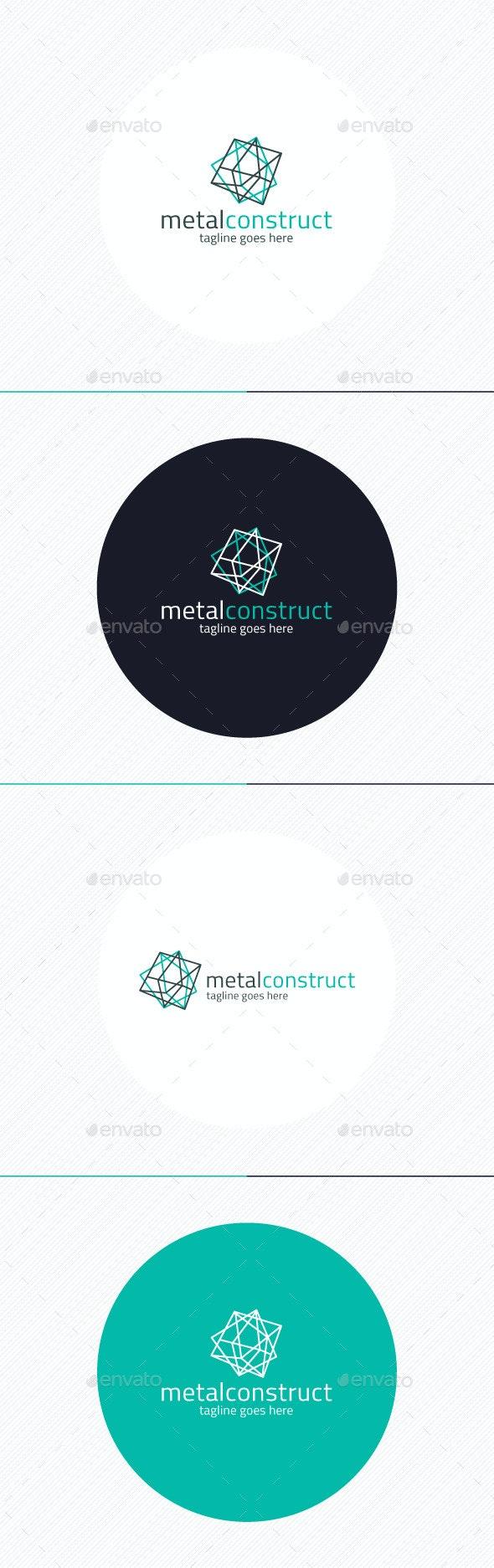 Metal Construct Logo - Vector Abstract