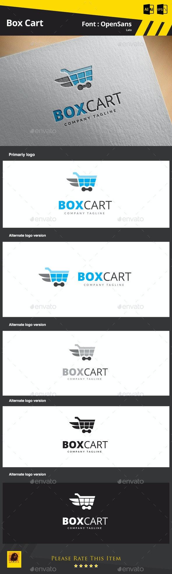 Box Cart  - Symbols Logo Templates