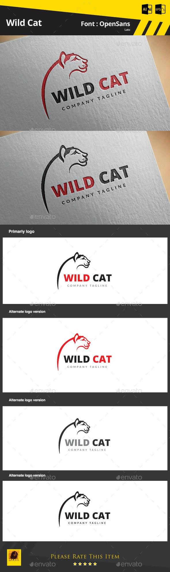 Wild Cat - Animals Logo Templates