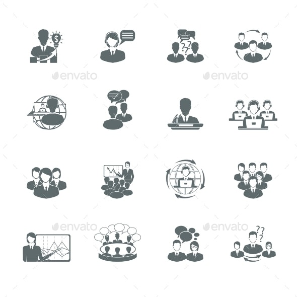 Meeting Icons Set - Business Icons