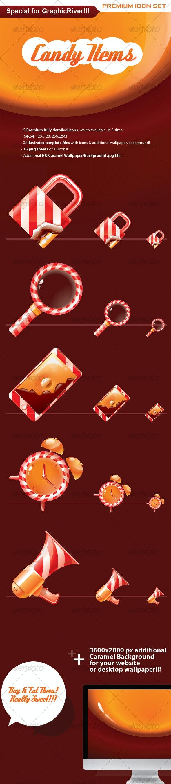Candy Items - Premium Set. Buy & Eat Them! - Web Icons