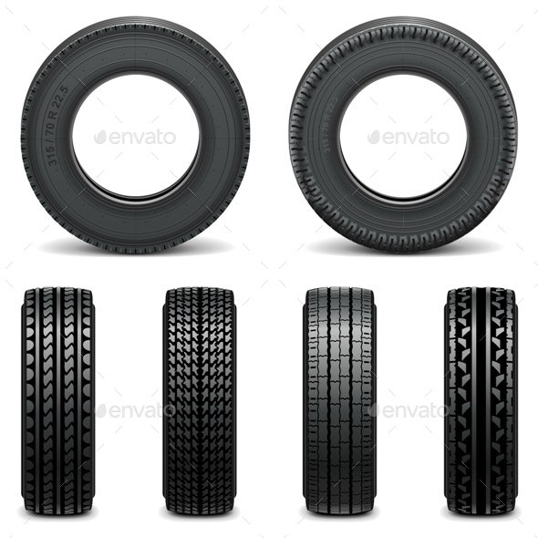 Tire Icons - Industries Business