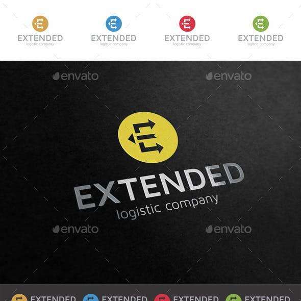 E Letter Arrows Logo - Extended