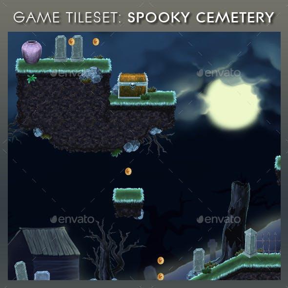 Platform Game Tileset 13: Spooky Cemetery