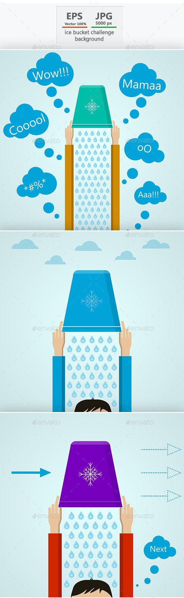 Ice Bucket Challenge - Health/Medicine Conceptual