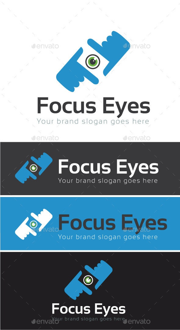 Focus Eyes Logo Template - Symbols Logo Templates