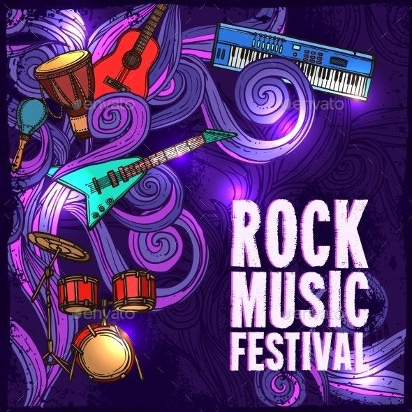 Music Festival Poster - Conceptual Vectors