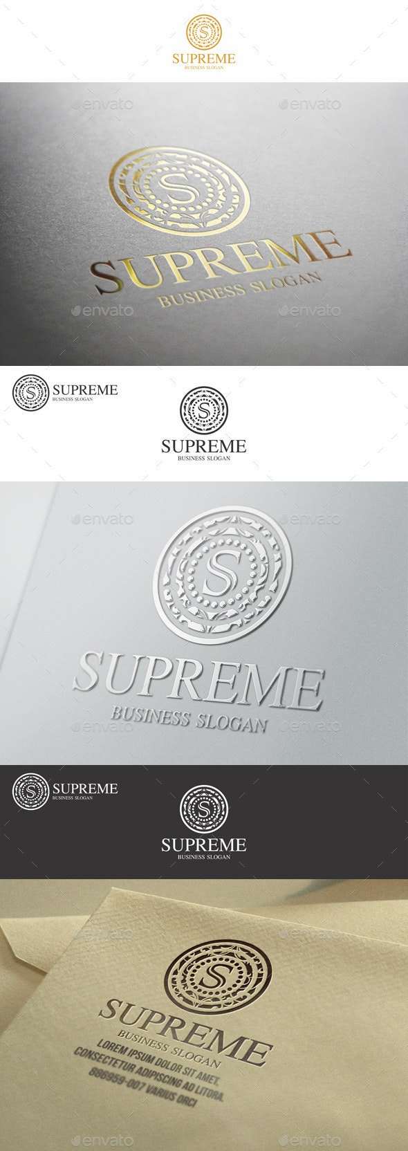 Supreme S Letter Elegant Boutique Logo - Letters Logo Templates