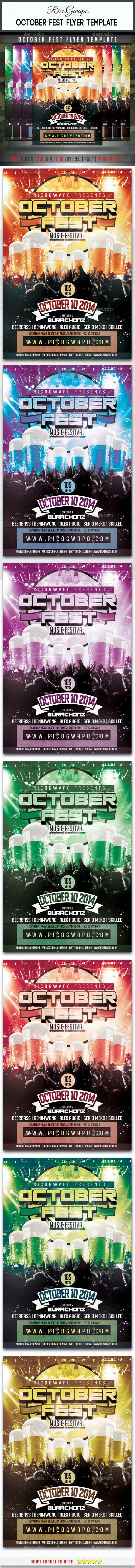 October Fest Flyer Template - Events Flyers