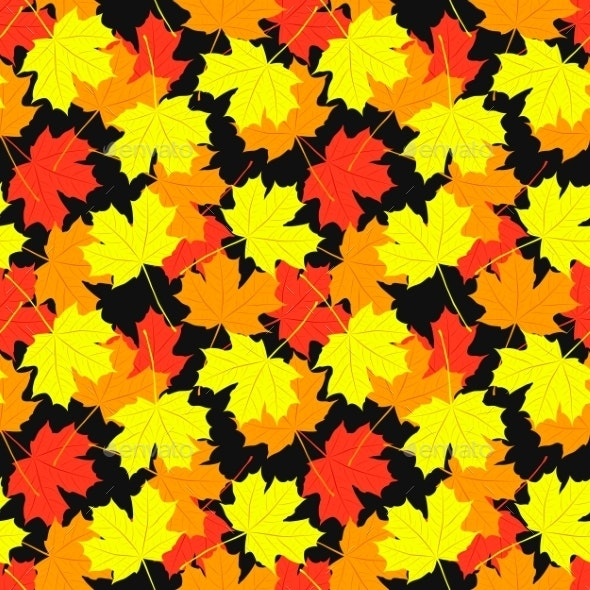 Seamless Pattern of Maple Leaves - Seasons Nature
