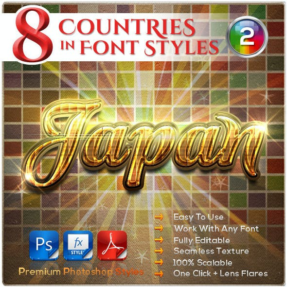 8 Countries in the Font Style #2