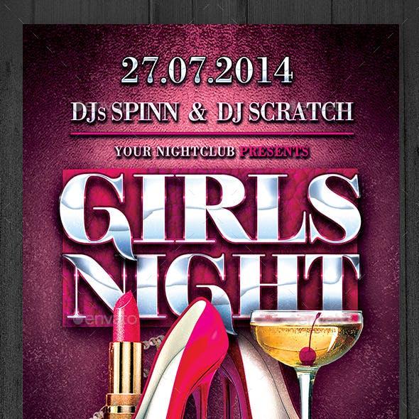 Girls Night Flyer