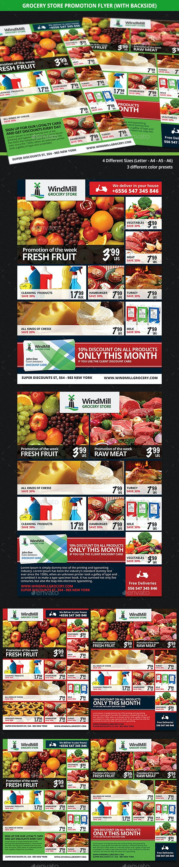 Grocery Store Promotions Flyer - Commerce Flyers