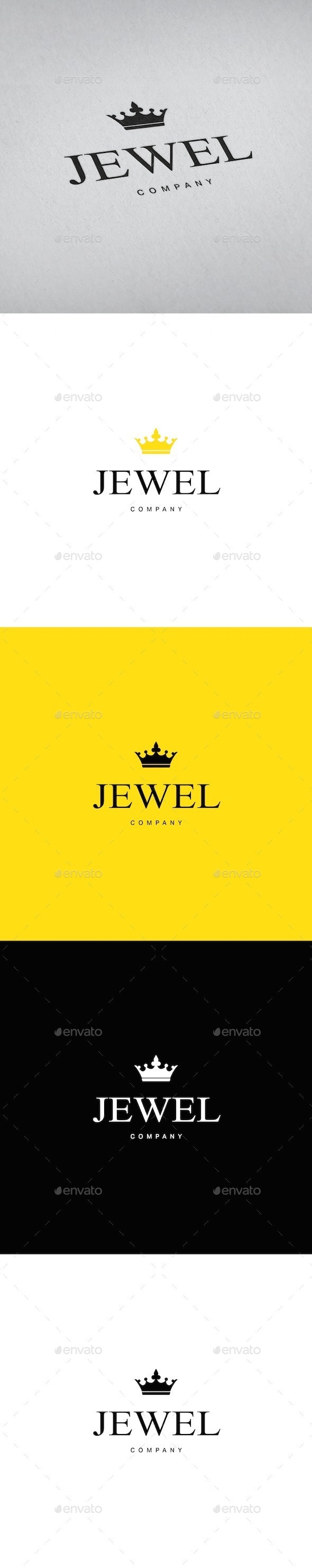 Jewellery Crown Logo Template - Objects Logo Templates