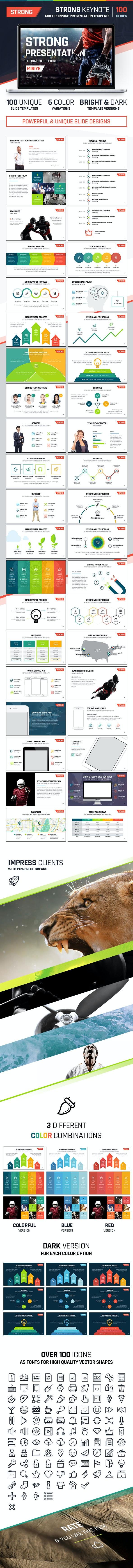 Strong Keynote - Multipurpose Presentation - Keynote Templates Presentation Templates