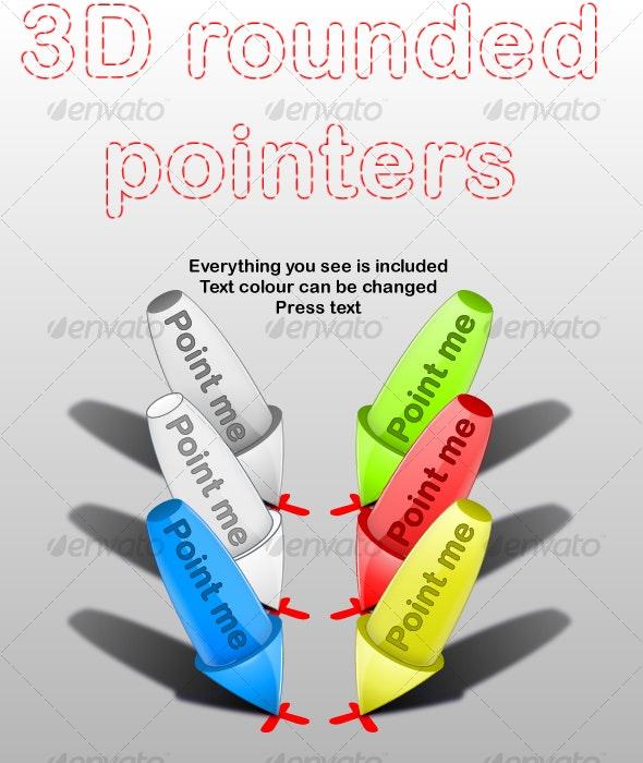 3D Rounded Pointers - Decorative Symbols Decorative