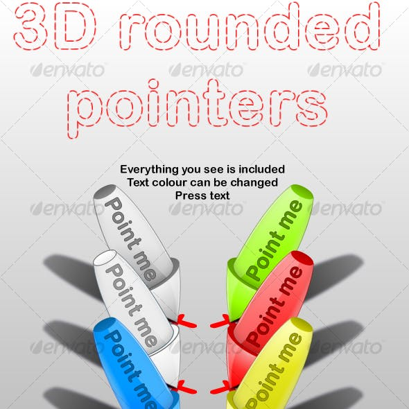 3D Rounded Pointers
