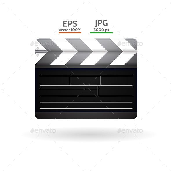 Vector Illustration of Clapboard