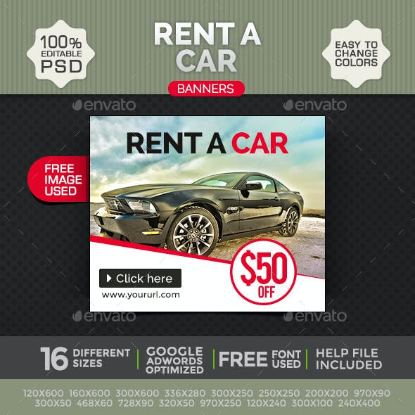 Rent a Car Banners