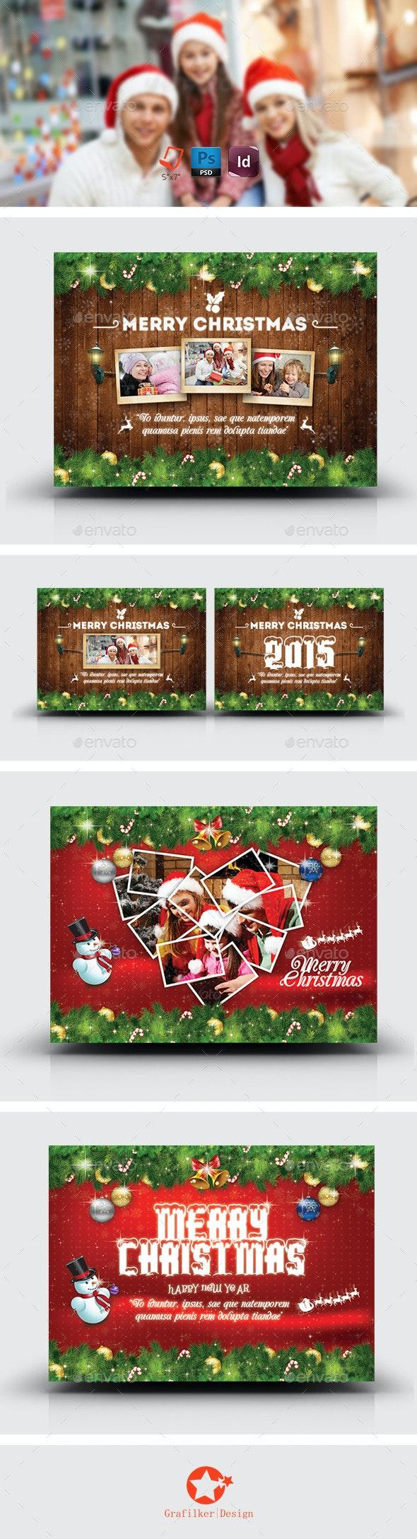 Christmas Postcard Bundle Templates - Corporate Flyers