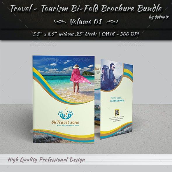 Travel / Tourism Bi-Fold Brochure Bundle   v1