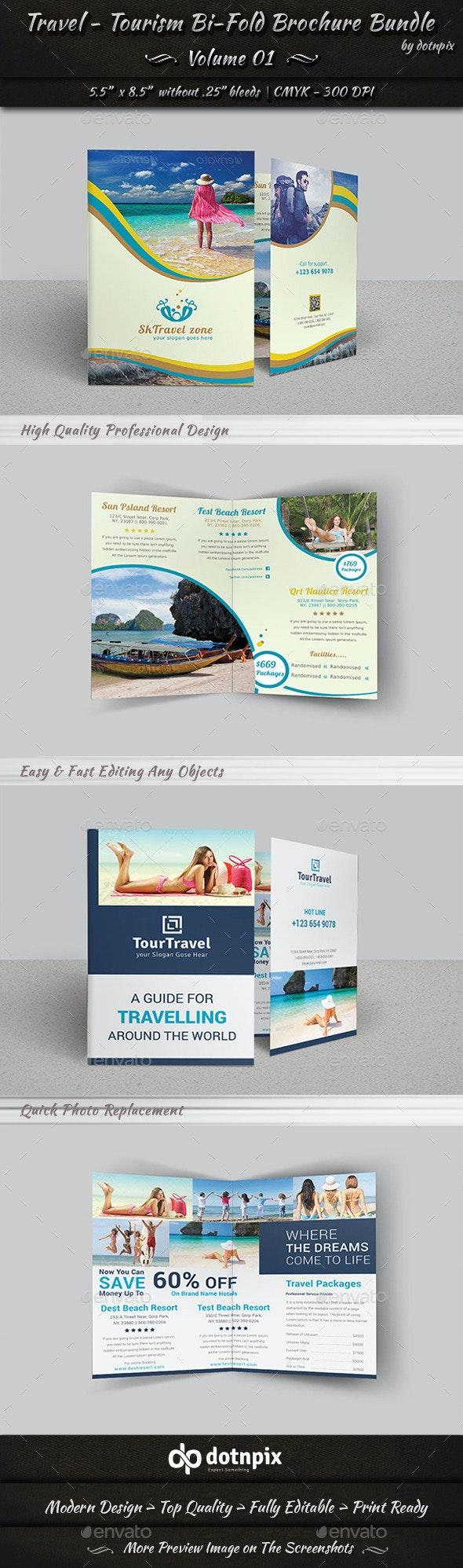 Travel / Tourism Bi-Fold Brochure Bundle   v1 - Corporate Brochures