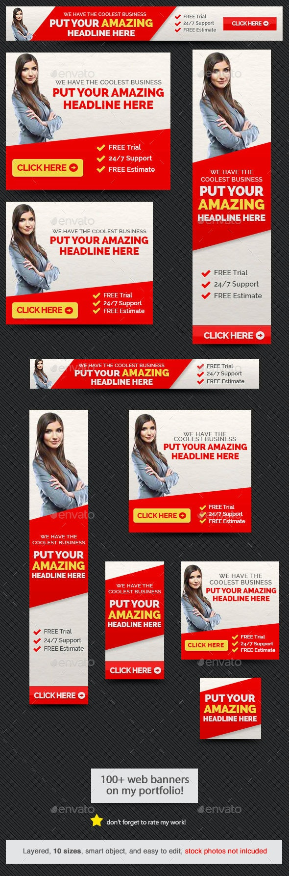 Amazing Web Banner - Banners & Ads Web Elements