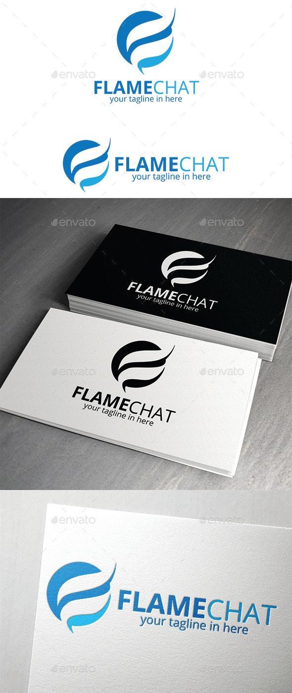 Flame Chat Logo - Logo Templates