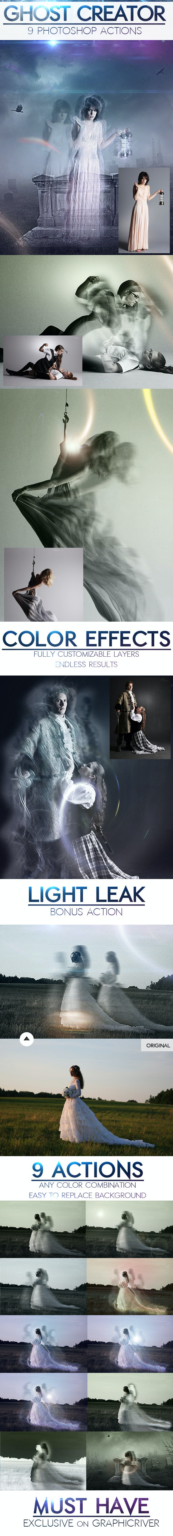 Ghost Creepy Photo Effects Photoshop Actions - Photo Effects Actions