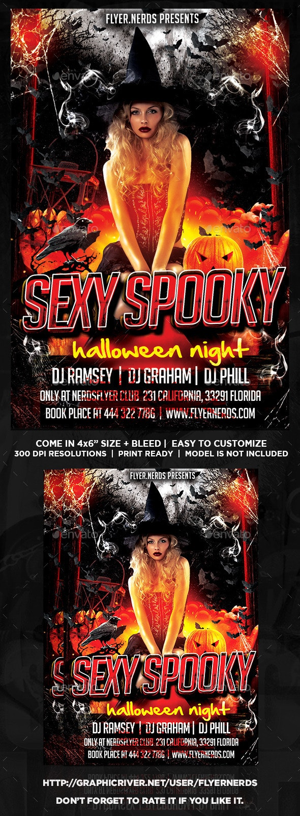 Sexy Spooky Night Party Flyer - Clubs & Parties Events
