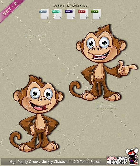 Cheeky Monkey Character – Set 2 - Animals Characters